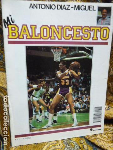 MI BALONCESTO - ANTONIO DIAZ -MIGUEL -FASCICULO N.1 CON POSTER (Coleccionismo Deportivo - Revistas y Periódicos - otros Deportes)