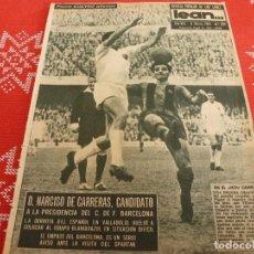 Coleccionismo deportivo: (ML)LEAN(6-3-61)BARÇA 1 VALENCIA 1,MALLORCA 1 GRANADA 0,NASTIC 2 HOSPI 0,JUVENTUD 57 R.MADRID 45. Lote 112292263