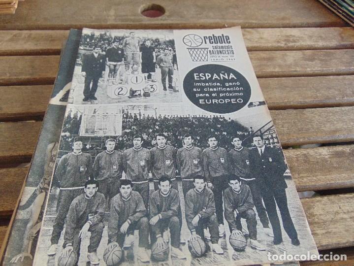 Coleccionismo deportivo: 8 REVISTA DE BALONCESTO REBOTE AÑO 1969 DE MAYO A DICIEMBRE - Foto 4 - 112393199