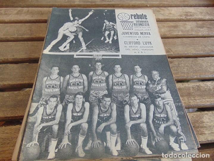 Coleccionismo deportivo: 8 REVISTA DE BALONCESTO REBOTE AÑO 1969 DE MAYO A DICIEMBRE - Foto 5 - 112393199