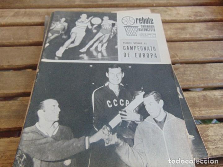 Coleccionismo deportivo: 8 REVISTA DE BALONCESTO REBOTE AÑO 1969 DE MAYO A DICIEMBRE - Foto 8 - 112393199