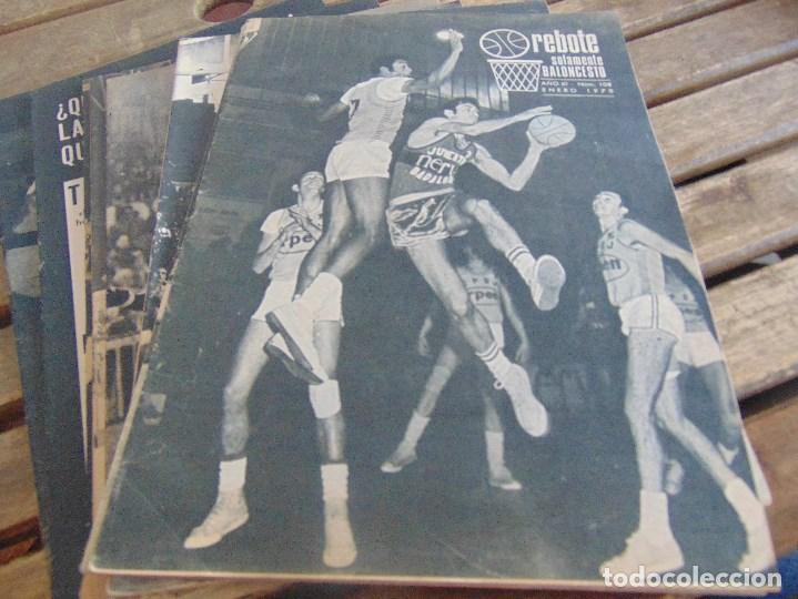 Coleccionismo deportivo: 11 REVISTA DE BALONCESTO REBOTE AÑO 1970 AÑO COMPLETO - Foto 2 - 112393371