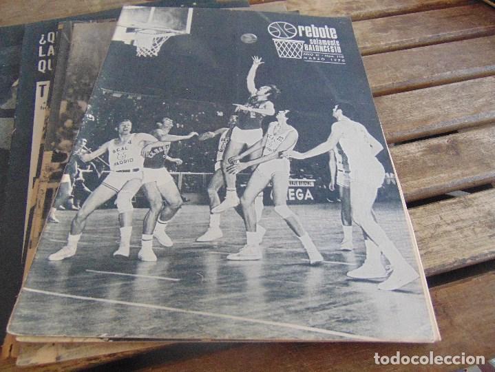 Coleccionismo deportivo: 11 REVISTA DE BALONCESTO REBOTE AÑO 1970 AÑO COMPLETO - Foto 4 - 112393371