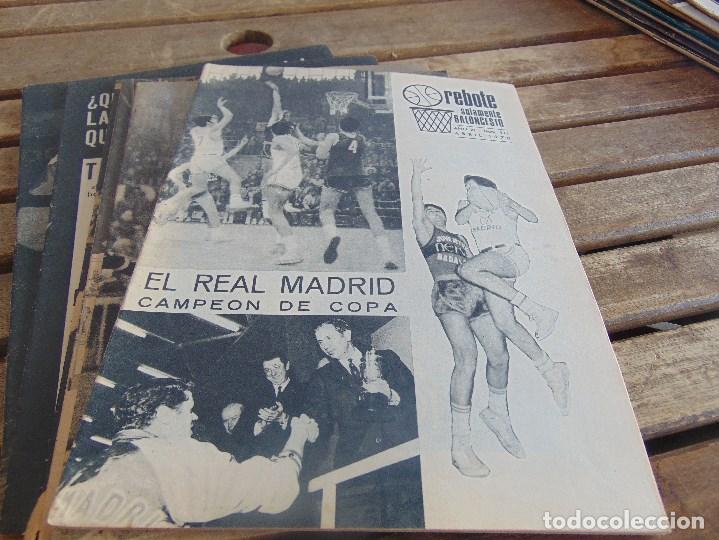 Coleccionismo deportivo: 11 REVISTA DE BALONCESTO REBOTE AÑO 1970 AÑO COMPLETO - Foto 5 - 112393371