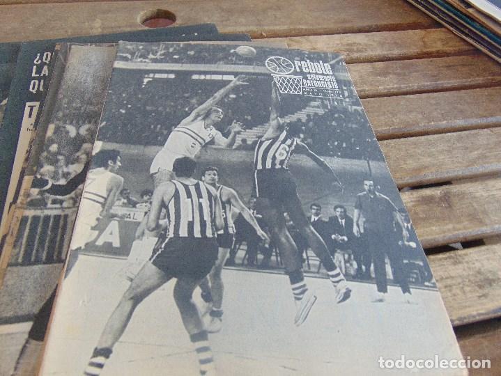 Coleccionismo deportivo: 11 REVISTA DE BALONCESTO REBOTE AÑO 1970 AÑO COMPLETO - Foto 6 - 112393371