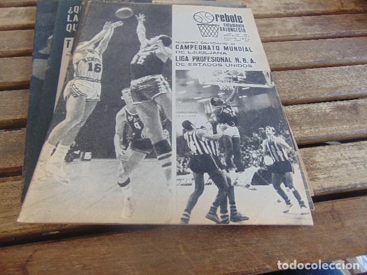 Coleccionismo deportivo: 11 REVISTA DE BALONCESTO REBOTE AÑO 1970 AÑO COMPLETO - Foto 7 - 112393371