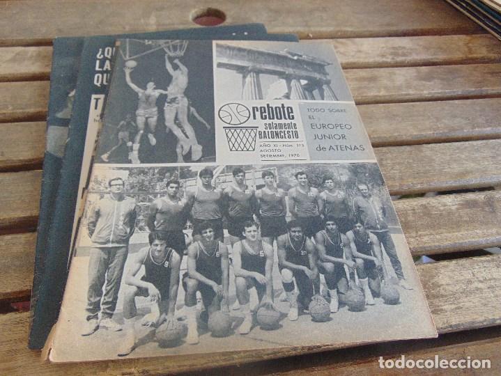 Coleccionismo deportivo: 11 REVISTA DE BALONCESTO REBOTE AÑO 1970 AÑO COMPLETO - Foto 9 - 112393371