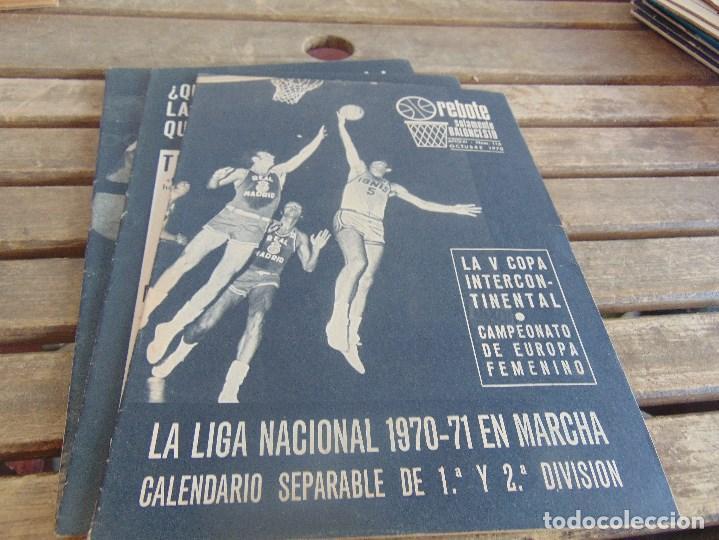 Coleccionismo deportivo: 11 REVISTA DE BALONCESTO REBOTE AÑO 1970 AÑO COMPLETO - Foto 10 - 112393371