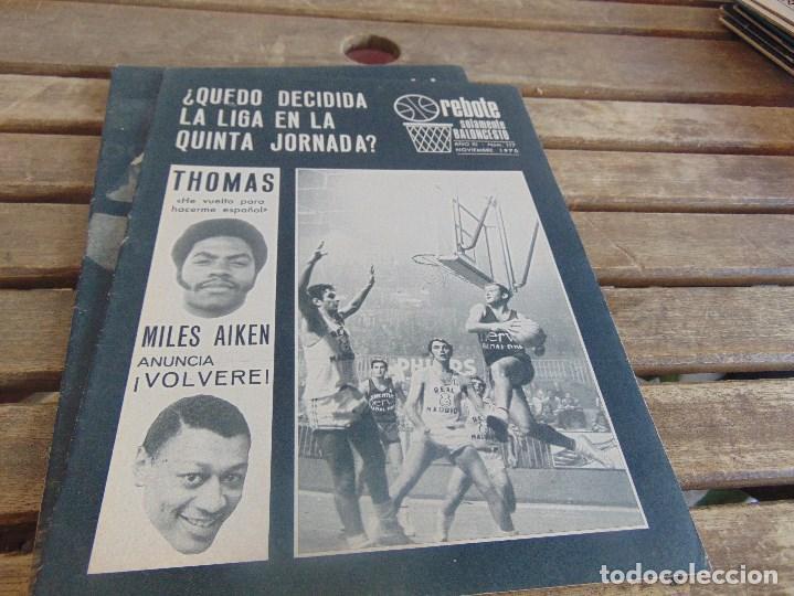 Coleccionismo deportivo: 11 REVISTA DE BALONCESTO REBOTE AÑO 1970 AÑO COMPLETO - Foto 11 - 112393371