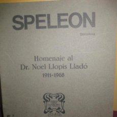 Collezionismo sportivo: SPELEON TOMO 22. CENTRE EXCURSIONISTA DE CATALUNYA.1975-76. HOMENAJE AL DR. LLOPIS. ESPELEOLOGIA. Lote 112656715