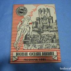 Coleccionismo deportivo: SOCIEDAD CICLISTA DE BILBAO 1951. Lote 113160403