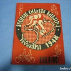 Coleccionismo deportivo: SOCIEDAD CICLISTA DE BILBAO 1948. Lote 113160543