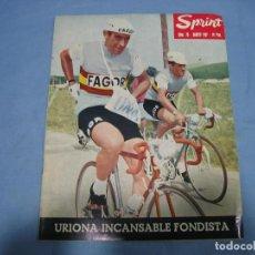 Coleccionismo deportivo: REVISTA DE CICLISMO SPRINT AÑOS 60. Lote 113224131