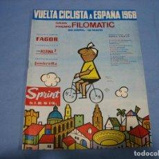 Coleccionismo deportivo: REVISTA DE CICLISMO SPRINT AÑOS 60. Lote 113224699