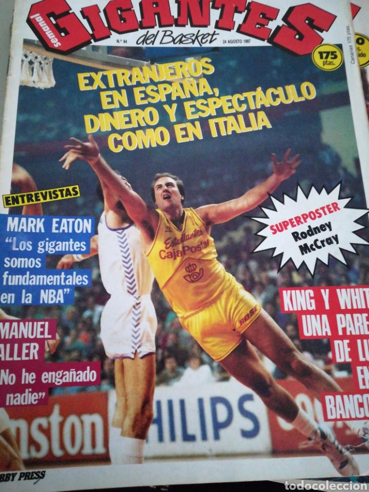 GIGANTES DEL BASKET 24 AGOSTO 1987 NÚMERO 94 EXTRANJEROS EN ESPAÑA , DINERO Y ESPECTÁCULO (Coleccionismo Deportivo - Revistas y Periódicos - otros Deportes)