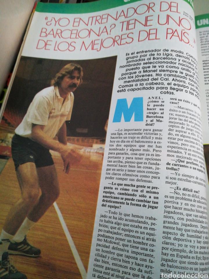 Coleccionismo deportivo: Gigantes del basket número 49 octubre 1986 ¿Qué pasa al Barça? Manel Comas Cai - Foto 2 - 113589106
