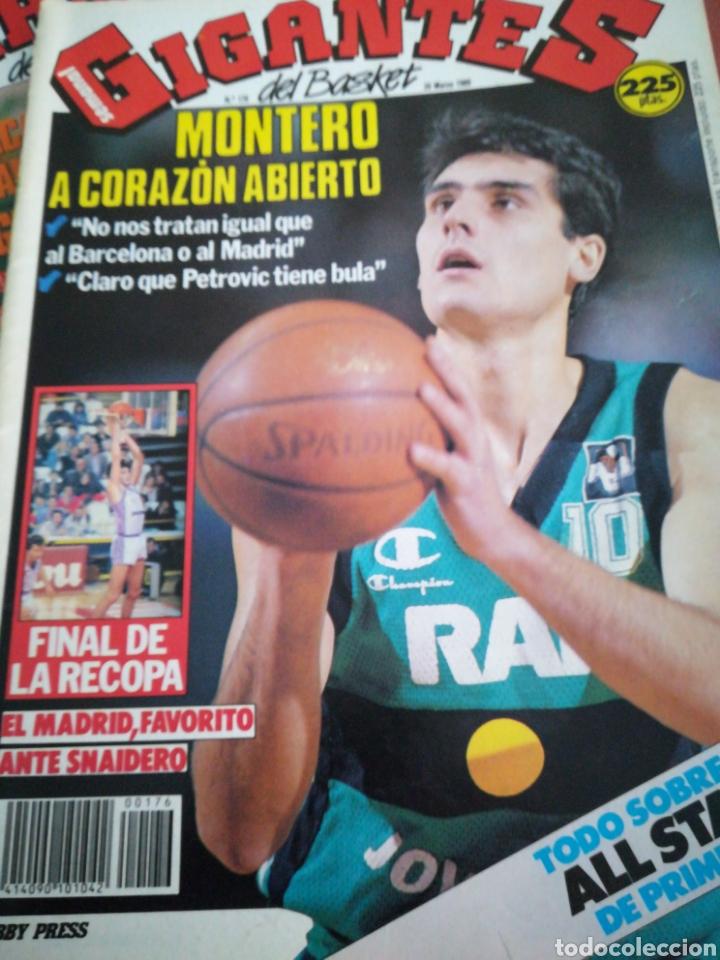 GIGANTES DEL BASKET MONTERO MADRID RECOPA NÚMERO 176 MARZO 1989 (Coleccionismo Deportivo - Revistas y Periódicos - otros Deportes)