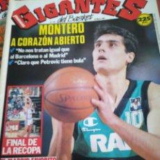 Coleccionismo deportivo: GIGANTES DEL BASKET MONTERO MADRID RECOPA NÚMERO 176 MARZO 1989. Lote 113589430