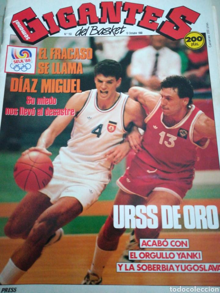 GIGANTES DEL BASKET NÚMERO 153 OCTUBRE 1989 (Coleccionismo Deportivo - Revistas y Periódicos - otros Deportes)