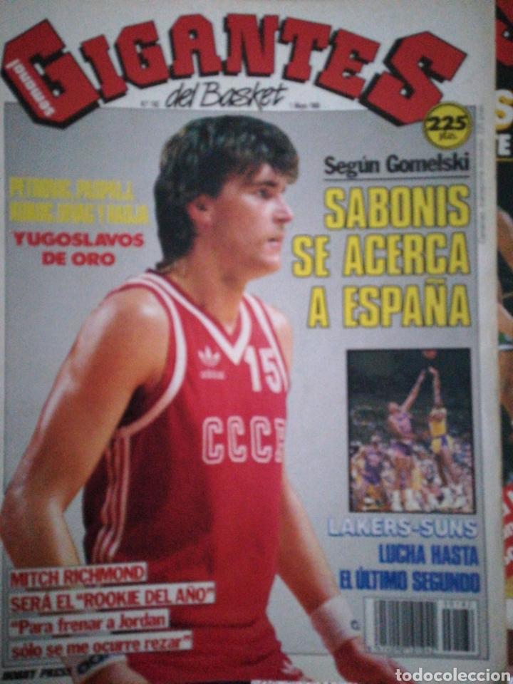GIGANTES DEL BASKET NÚMERO 182 SABONIS SE ACERCA A ESPAÑA (Coleccionismo Deportivo - Revistas y Periódicos - otros Deportes)
