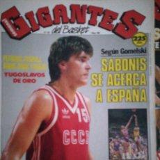 Coleccionismo deportivo: GIGANTES DEL BASKET NÚMERO 182 SABONIS SE ACERCA A ESPAÑA. Lote 113597416