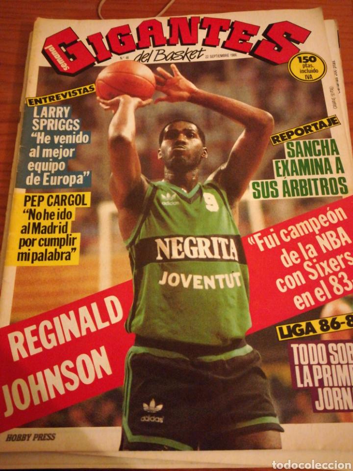 GIGANTES DEL BASKET REGINALD JOHNSON NÚMERO 46 SEPTIEMBRE 1986 (Coleccionismo Deportivo - Revistas y Periódicos - otros Deportes)