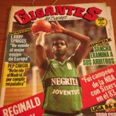 Coleccionismo deportivo: GIGANTES DEL BASKET REGINALD JOHNSON NÚMERO 46 SEPTIEMBRE 1986. Lote 113699182