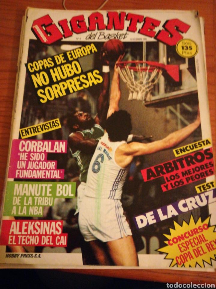 GIGANTES DEL BASKET CORBALAN MANUTE BOL NÚMERO 6 DICIEMBRE 1985 (Coleccionismo Deportivo - Revistas y Periódicos - otros Deportes)
