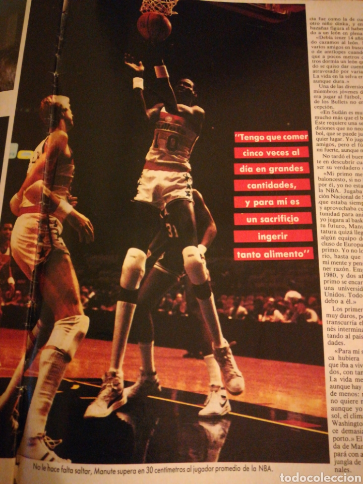 Coleccionismo deportivo: Gigantes del Basket Corbalan Manute Bol número 6 Diciembre 1985 - Foto 3 - 113699738