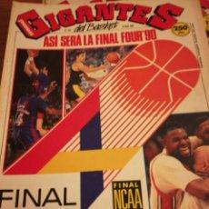 Coleccionismo deportivo: GIGANTES DEL BASKET FINAL FOUR 90 EN ZARAGOZA POSTER JUVENTUD NÚMERO 232 ABRIL 1990. Lote 113700204