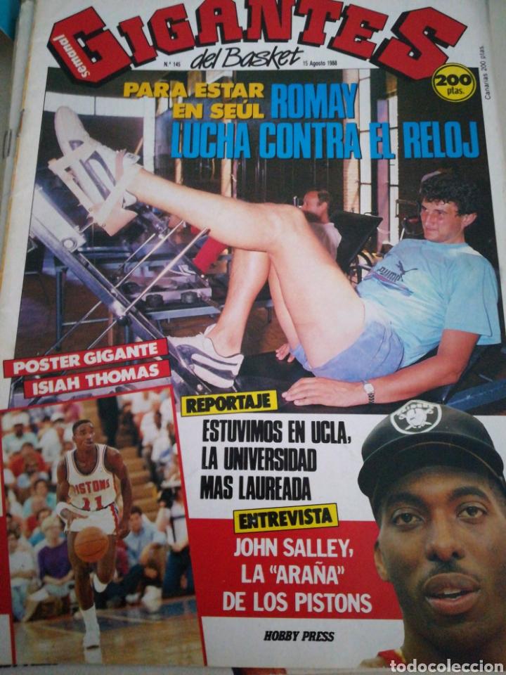 GIGANTES DEL BASKET ROMAY SEÙL NÚMERO 145 AGOSTO 1988 (Coleccionismo Deportivo - Revistas y Periódicos - otros Deportes)