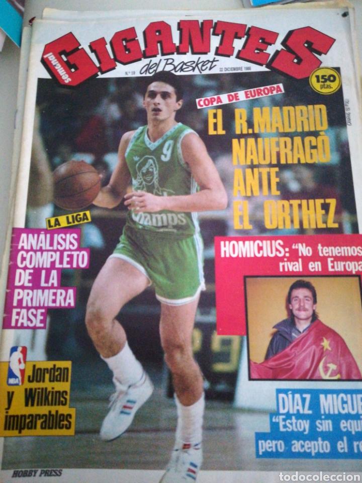 GIGANTES DEL BASKET DIAZ MIGUEL HOMICIUS NÚMERO 59 AÑO 1986 (Coleccionismo Deportivo - Revistas y Periódicos - otros Deportes)