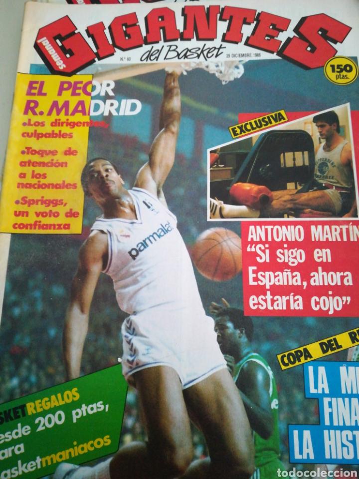 GIGANTES DEL BASKET ANTONIO MARTÍN NÚMERO 60 DICIEMBRE 1986 (Coleccionismo Deportivo - Revistas y Periódicos - otros Deportes)