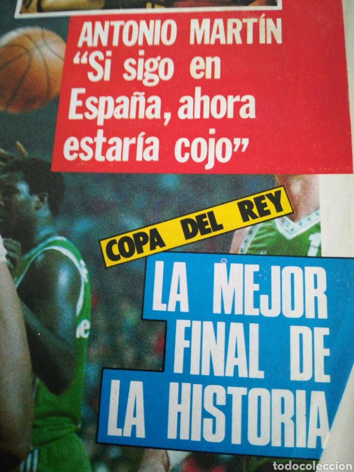Coleccionismo deportivo: Gigantes del basket Antonio Martín número 60 diciembre 1986 - Foto 2 - 113825562