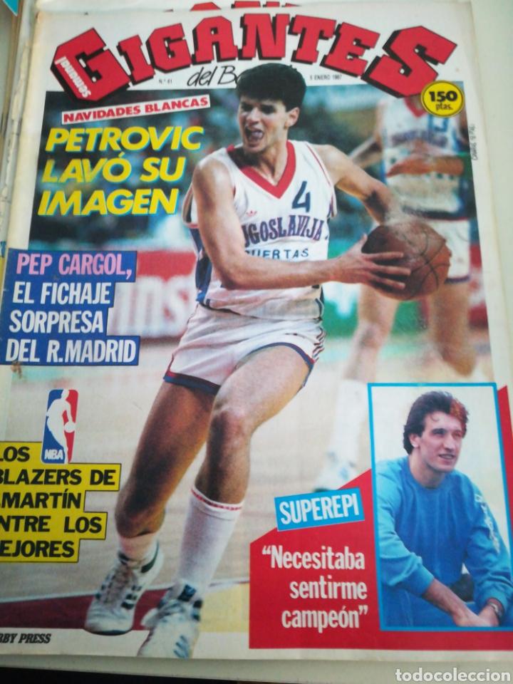 GIGANTES DEL BASKET PETROVIC EPI CARGOL NÚMERO 61 AÑO 1987 (Coleccionismo Deportivo - Revistas y Periódicos - otros Deportes)