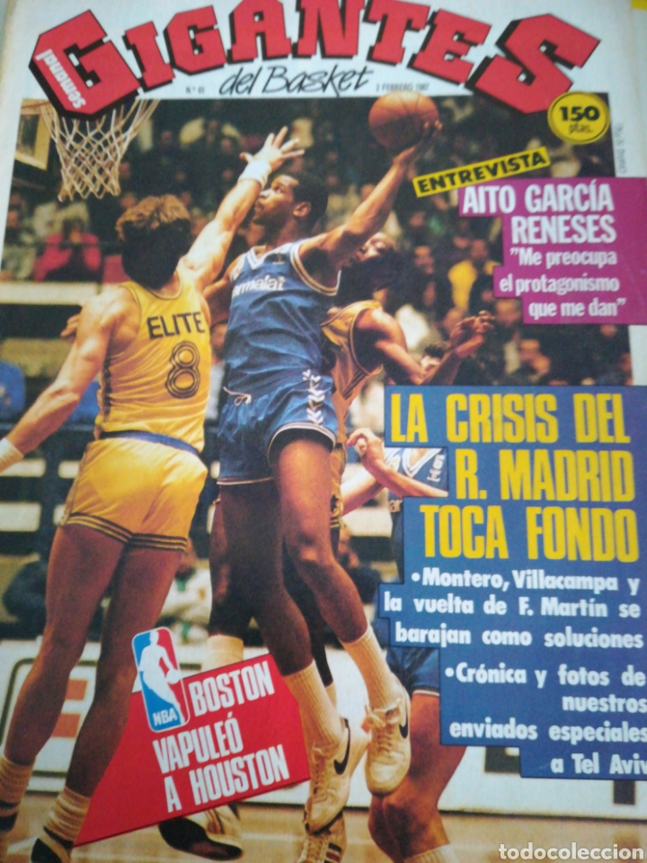 GIGANTES DEL BASKET GARCÍA RENESES NÚMERO 65 FEBRERO 1987 (Coleccionismo Deportivo - Revistas y Periódicos - otros Deportes)