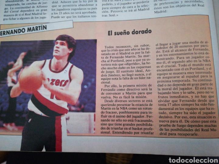 Coleccionismo deportivo: Gigantes del basket García reneses número 65 febrero 1987 - Foto 4 - 113825904