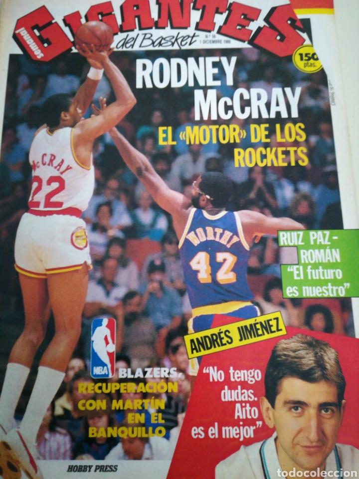 GIGANTES DEL BASKET RODNEY MCCRAY NÚMERO 56 DICIEMBRE 1986 (Coleccionismo Deportivo - Revistas y Periódicos - otros Deportes)