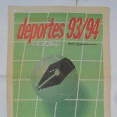 Coleccionismo deportivo: LA VOZ DE LA RIOJA. DEPORTES 93/94. 25 SEPTIEMBRE DE 1993. ENTREVISTA A TITIN III. TDKPR2. Lote 113893675