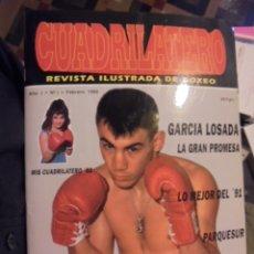 Coleccionismo deportivo: REVISTA BOXEO CUADRILATERO Nº 1 - 1992 - GARCIA LOSADA - SIN USAR / STOCK DE TIENDA. Lote 114357231