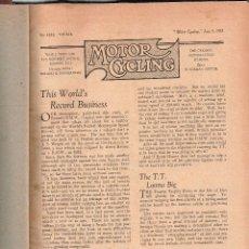 Coleccionismo deportivo: MOTOR CYCLING 1935-36. Lote 114519035