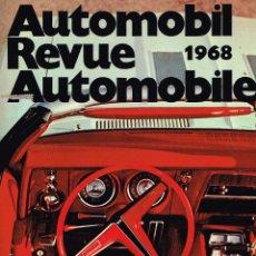Coleccionismo deportivo: AUTOMOBIL REVUE AUTOMOBILE 1968 NUMÉRO CATALOGUE. Lote 114521219