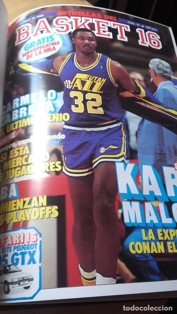 Coleccionismo deportivo: REVISTA ESTRELLAS DE BASKET 16. TOMO CON 15, NUMEROS (31 - 45) 1988. NBA - Foto 2 - 115378099