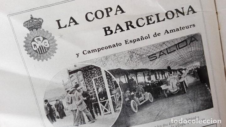 Coleccionismo deportivo: REVISTA RARISIMA STADIUM 1911 COPA AUTOMOVILISMO COCHES FUTBOL BARCELONA HISPANIA VALENCIA ESPAÑOL - Foto 4 - 115793187