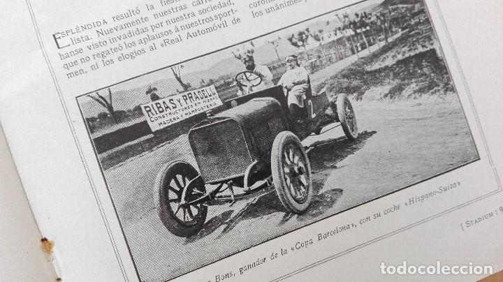 Coleccionismo deportivo: REVISTA RARISIMA STADIUM 1911 COPA AUTOMOVILISMO COCHES FUTBOL BARCELONA HISPANIA VALENCIA ESPAÑOL - Foto 7 - 115793187