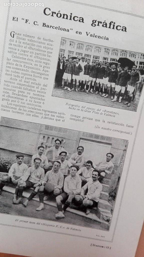 Coleccionismo deportivo: REVISTA RARISIMA STADIUM 1911 COPA AUTOMOVILISMO COCHES FUTBOL BARCELONA HISPANIA VALENCIA ESPAÑOL - Foto 10 - 115793187