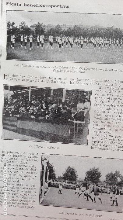 Coleccionismo deportivo: REVISTA RARISIMA STADIUM 1911 COPA AUTOMOVILISMO COCHES FUTBOL BARCELONA HISPANIA VALENCIA ESPAÑOL - Foto 19 - 115793187