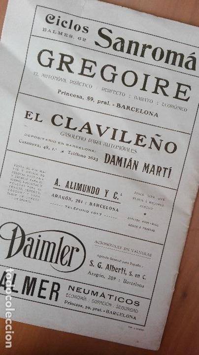 Coleccionismo deportivo: REVISTA RARISIMA STADIUM 1911 COPA AUTOMOVILISMO COCHES FUTBOL BARCELONA HISPANIA VALENCIA ESPAÑOL - Foto 24 - 115793187