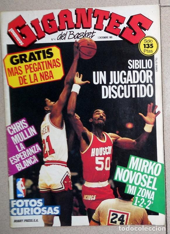 REVISTA GIGANTES DEL BASKET Nº4 DICIEMBRE 1985 BALONCESTO PÓSTER CORBALAN REAL MADRID NBA SIBILIO (Coleccionismo Deportivo - Revistas y Periódicos - otros Deportes)