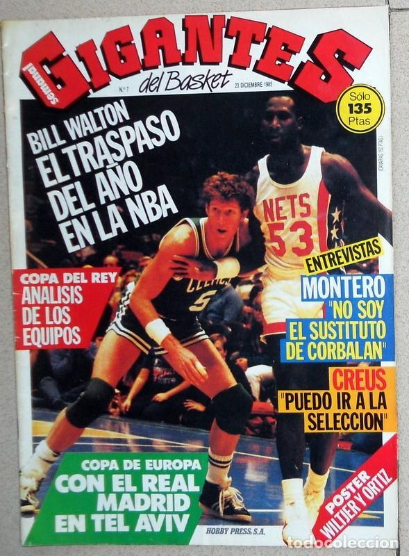 REVISTA GIGANTES DEL BASKET Nº7 DICIEMBRE 1985 BALONCESTO PÓSTER WILTJER Y ORTIZ FC BARCELONA NBA (Coleccionismo Deportivo - Revistas y Periódicos - otros Deportes)